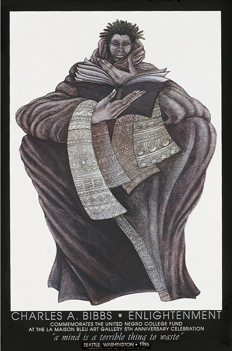Charles Bibbs Enlightenment Lithograph