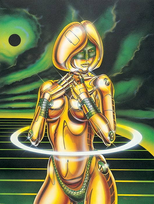 Poncho Eclipse Ellipse   Giclee Re 12