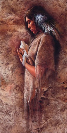 Lee Bogle Embracing Peace Artist Proof Hand Enhanced Giclee On Canvas