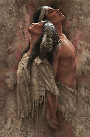 Lee Bogle Eternal Soul Mates Giclee On Canvas