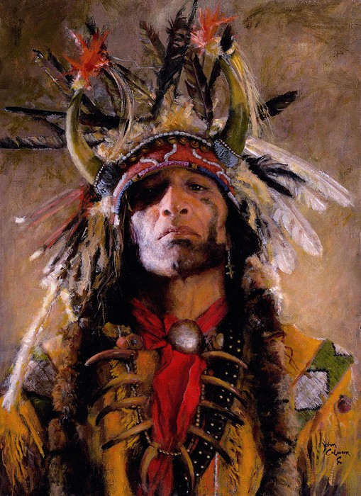 John Coleman Holy Man of the Buffalo Nation Giclee On Canvas Artist Proof