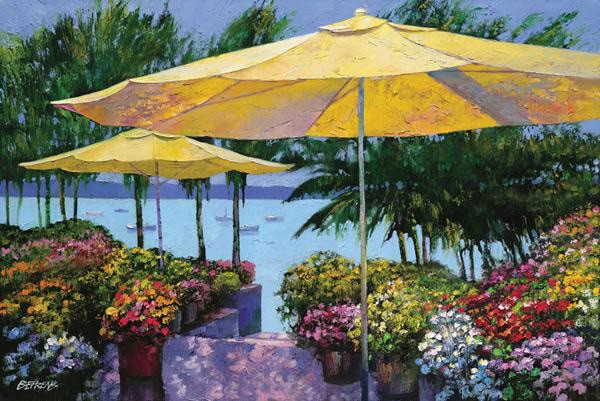 Howard Behrens Flowers by the Sea Giclee On Canvas