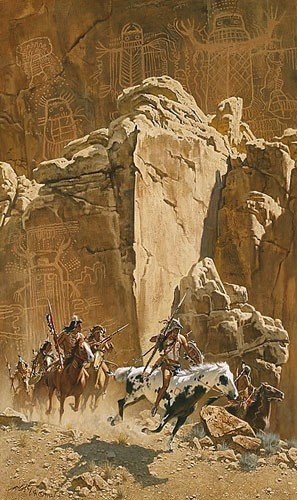 Frank McCarthy BENEATH THE CLIFF OF THE SPIRITS Lithograph