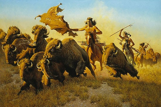 Frank McCarthy SPLITTING THE HERD Print
