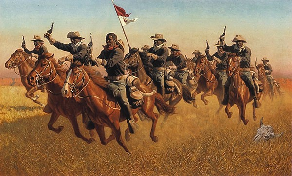 Frank McCarthy BUFFALO SOLDIERS Lithograph