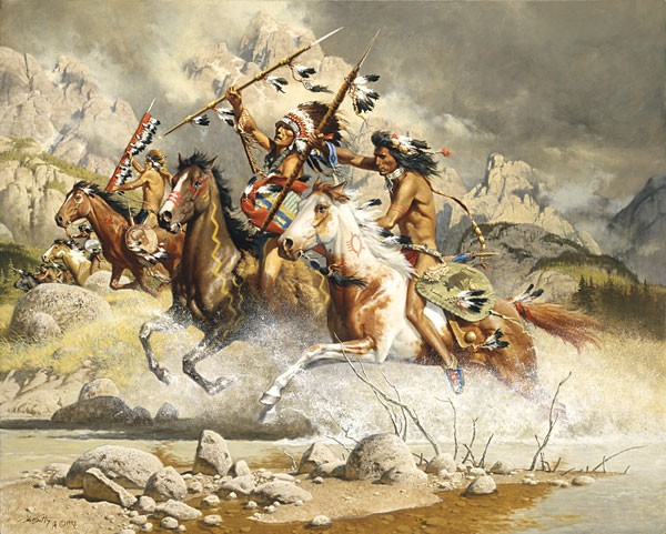 Frank McCarthy Cheyenne SMALLWORK EDITION ON Canvas