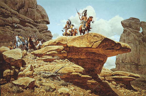 Frank McCarthy The Hostiles ANNIVERSARY EDITION ON Canvas