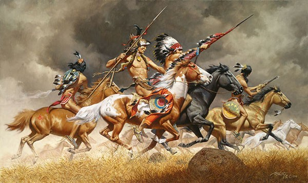 Frank McCarthy Thunder Across the Plains Canvas