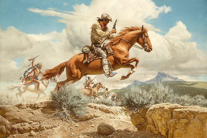 Frank McCarthy Pony Express ANNIVERSARY EDITION ON Canvas