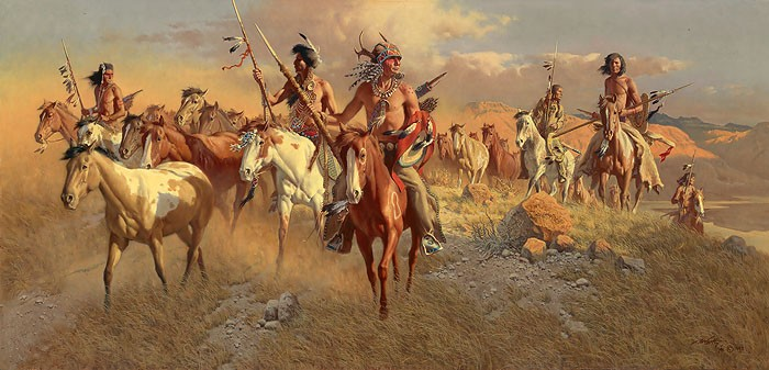 Frank McCarthy The Raiders MASTERWORK EDITION ON Canvas