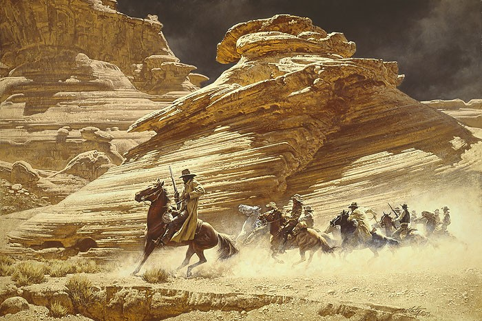 Frank McCarthy Dust Stained Posse ANNIVERSARY EDITION ON Canvas