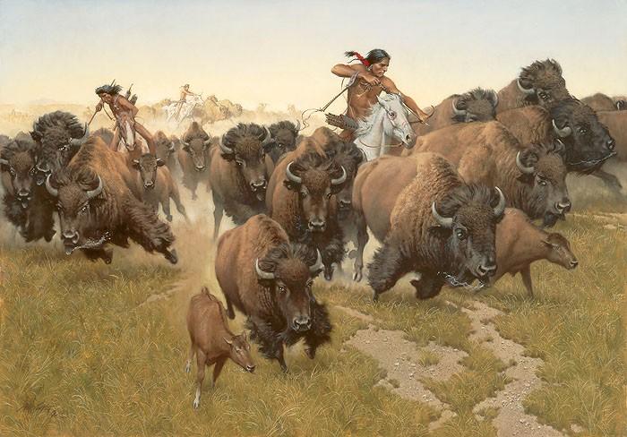 Frank McCarthyAmidst the Thundering HerdCanvas