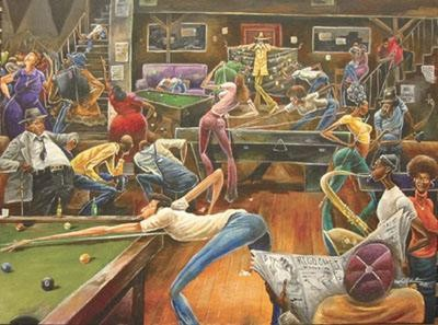 Frank Morrison Phat Daddys Pool Hall Giclee