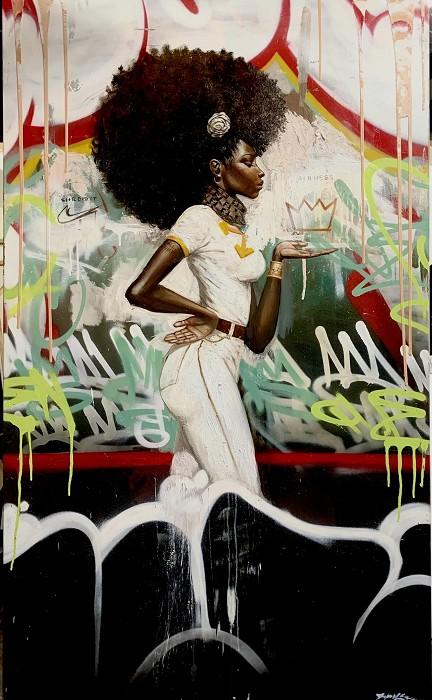 Frank MorrisonAFROMATIONGiclee On Canvas