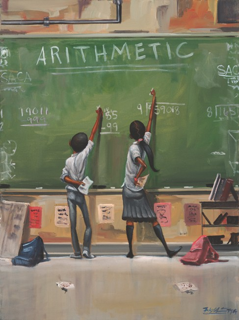 Frank Morrison ARITHMETIC Giclee On Canvas