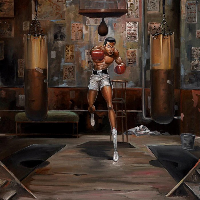 Frank Morrison FLOAT LIKE A BUTTERFLY Giclee On Canvas