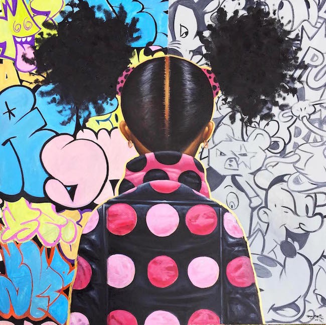 Frank Morrison GRAFFITI POP AND LOCS Giclee On Canvas Remarque
