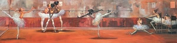 Frank MorrisonREHERSALOriginal Oil on Canvas