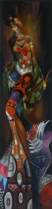 Frank Morrison SANKOFA Original Oil on Canvas