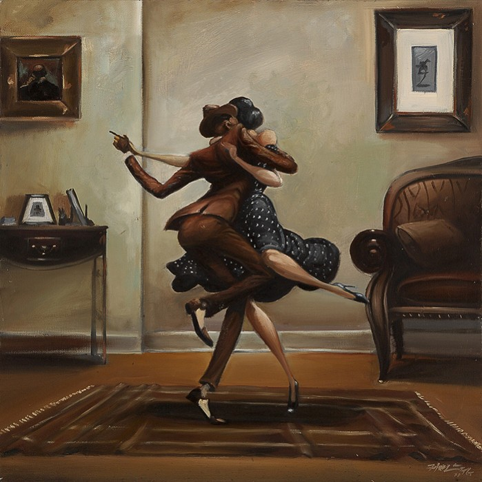 Frank MorrisonSwing Baby SwingHand-Embellished Giclee on Canvas