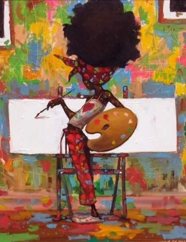 Frank MorrisonTHE STUDIOOriginal Oil on Canvas