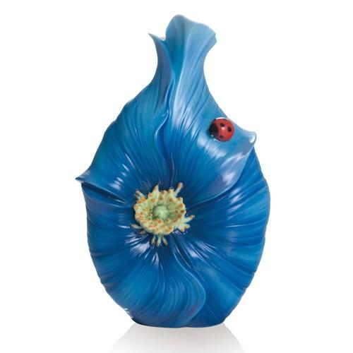 Franz PorcelainBlue Poppy Flower Collection Small VaseFine Porcelain