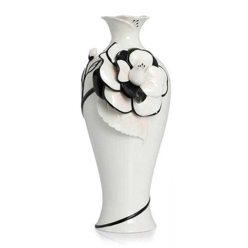 Franz PorcelainVase, Graceful Camellia large
