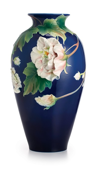 Franz PorcelainVase, Cotton Rose (LE 2000)