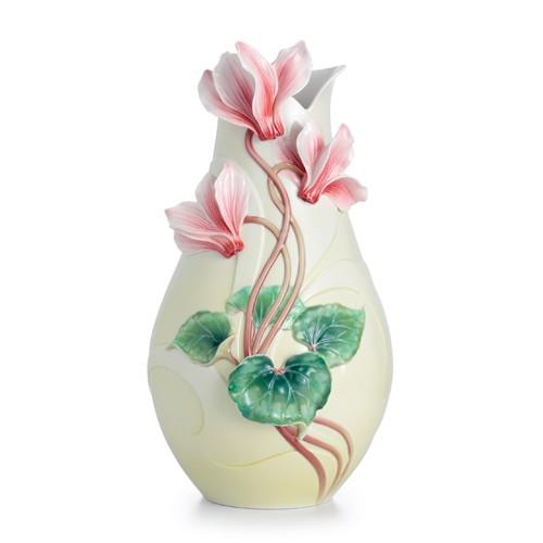Franz PorcelainPersian Violet Flower Large Porcelain VaseFine Porcelain