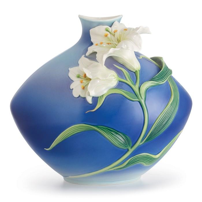Franz PorcelainLily Flower Porcelain VaseFine Porcelain
