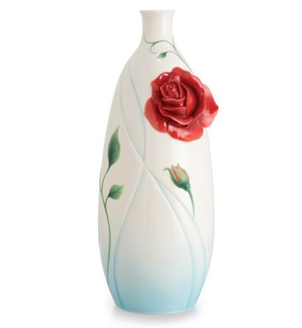 Franz Porcelain Vase, Romance of the Rose