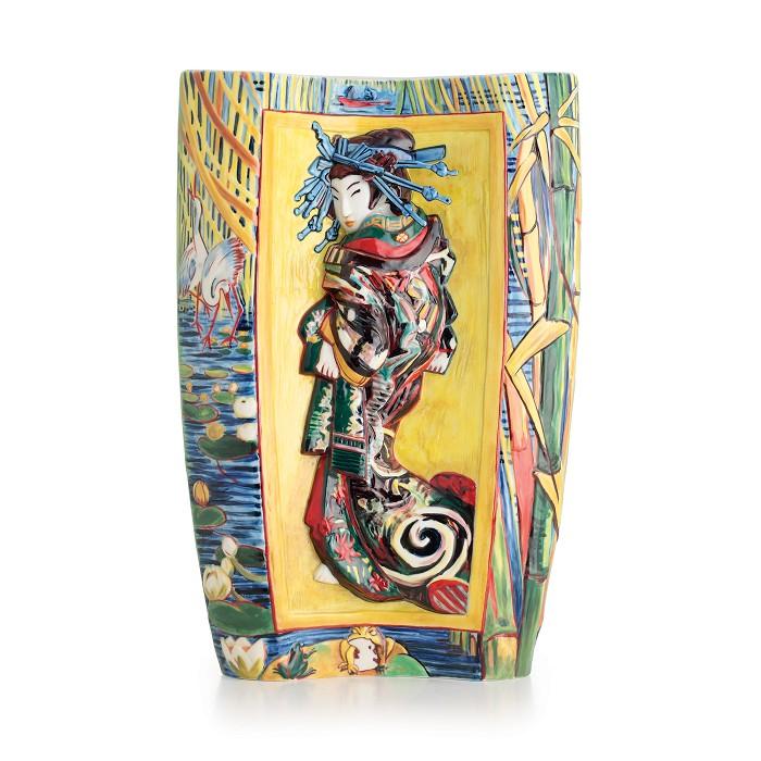 Franz PorcelainVan Gogh The Courtesan large vaseFine Porcelain