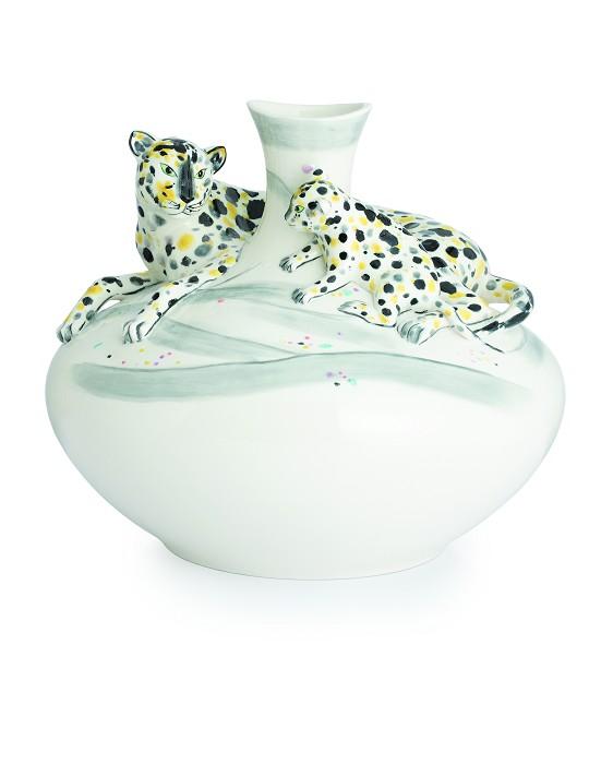 Franz PorcelainVase, Leopards (LE 588)