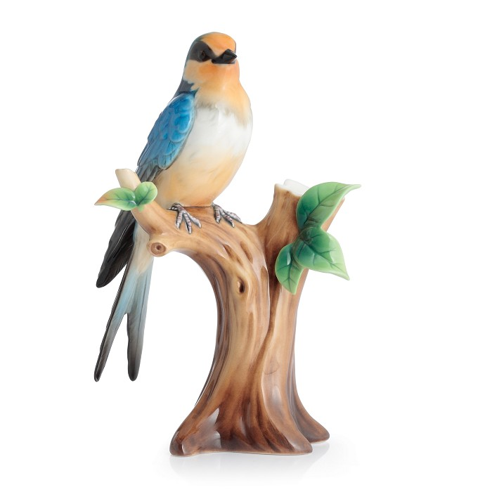 Franz Porcelain Barn Swallow Small Vase Fine Porcelain