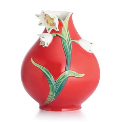 Franz PorcelainSpring Snowflake Small VaseFine Porcelain