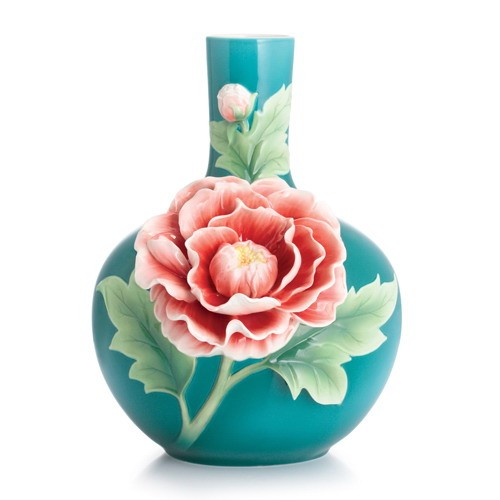 Franz PorcelainPeony Mid Size VaseFine Porcelain