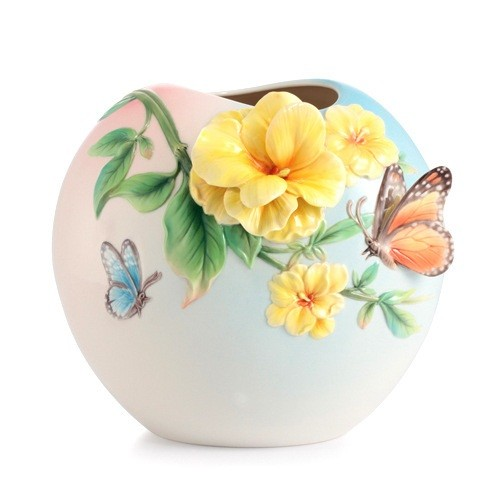 Franz Porcelain Friends for Life Jasmine Vase Fine Porcelain