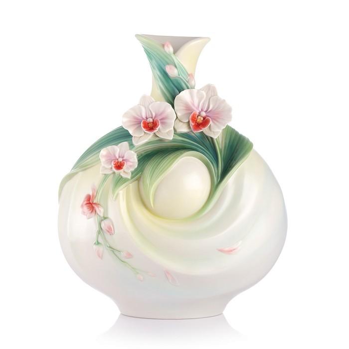 Franz PorcelainA Blithe Spirit Moth Orchid VaseFine Porcelain