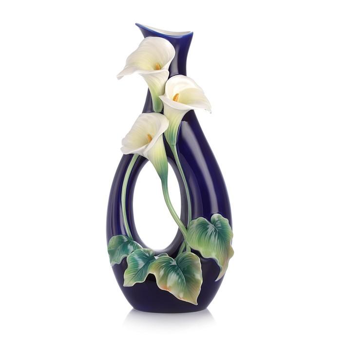 Franz PorcelainForever Love calla lily vaseFine Porcelain