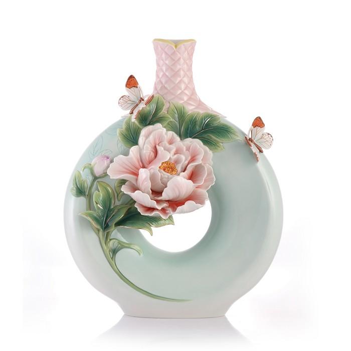 Franz PorcelainVase, Peony