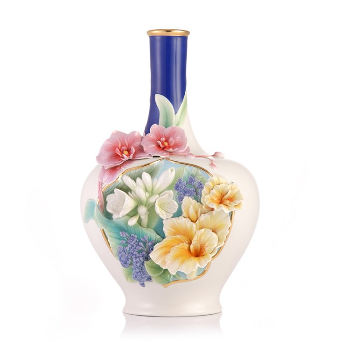 Franz Porcelain Vase, A Riot of Color