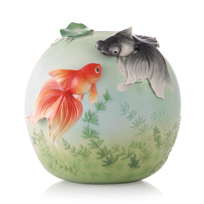 Franz PorcelainVase, Goldfish