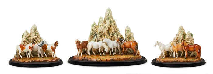 Franz PorcelainTen Fine Steeds Porcelain Figurine Set (LE 88)