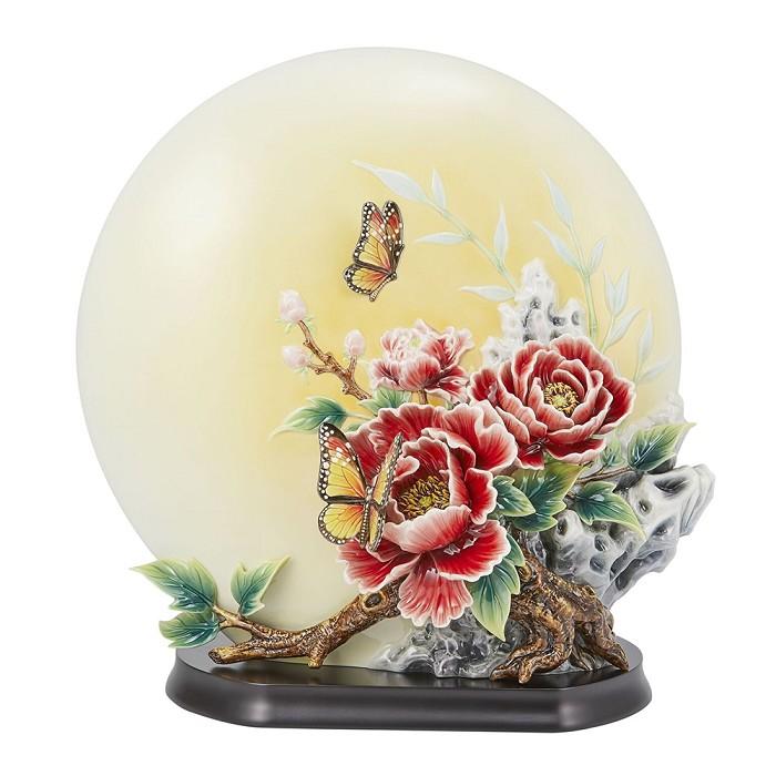 Franz PorcelainPeony & Butterfly Porcelain Figurine