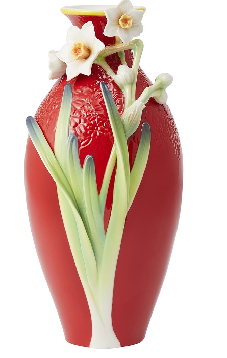 Franz Porcelain Vase, Standing Out Narcissus