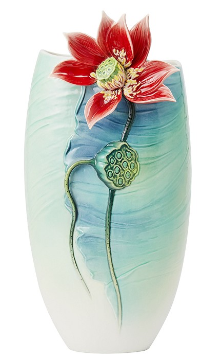 Franz PorcelainVase, Lotus Porcelain