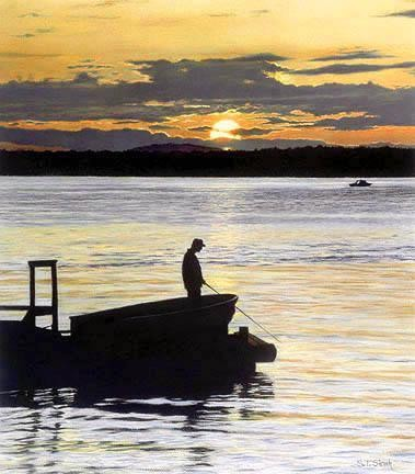 Tom Sierak Fisherman's Solitude Canvas Giclee