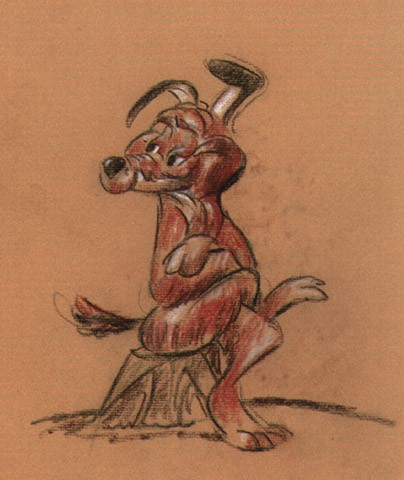 Chuck Jones Charlie Dog Animation Giclee On Paper