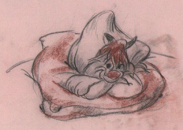 Chuck JonesClaude CatAnimation Giclee On Paper