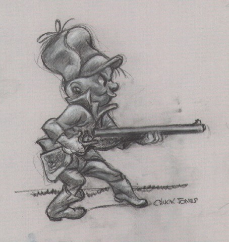 Chuck Jones Elmer Fudd Animation Giclee On Paper